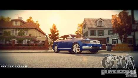 VW Passat B7 TDI Blue Motion для GTA 4 вид изнутри