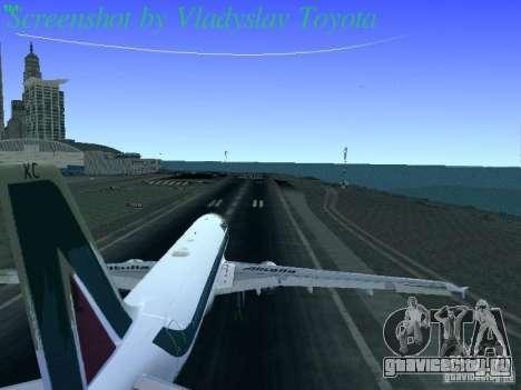 Airbus A320-214 Alitalia v.1.0 для GTA San Andreas вид сбоку