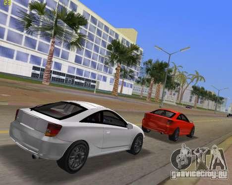Toyota Celica 2JZ-GTE черный Revel для GTA Vice City вид сзади слева