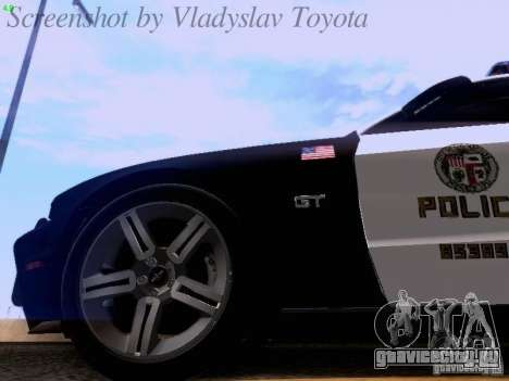 Ford Mustang GT 2011 Police Enforcement для GTA San Andreas вид сбоку