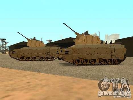 M2A3 Брэдли для GTA San Andreas вид сзади