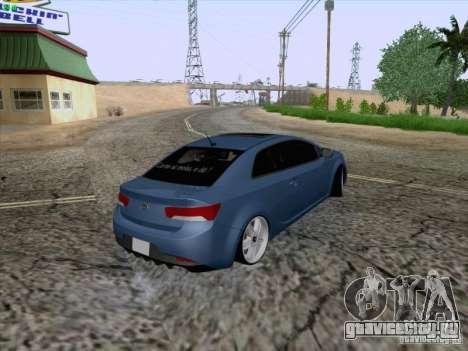 Kia Cerato Coupe 2011 для GTA San Andreas вид изнутри