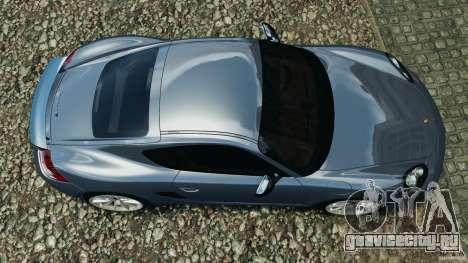 Porsche Cayman R 2012 для GTA 4 вид справа