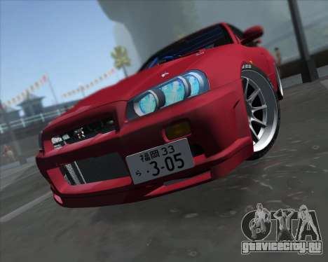Nissan Skyline BNR34 GT-R для GTA San Andreas