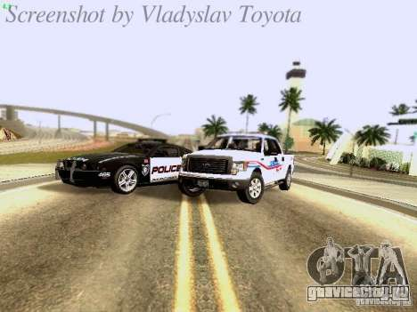 Ford F-150 Road Sheriff для GTA San Andreas вид изнутри