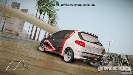 Peugeot 206 Shark Edition для GTA San Andreas вид справа