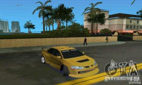 Mitsubishi Lancer Evo для GTA Vice City вид сзади слева