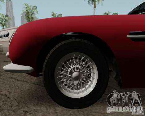 Aston Martin DB5 для GTA San Andreas вид изнутри