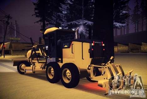 Caterpillar 140AWD Motorgrader для GTA San Andreas вид слева