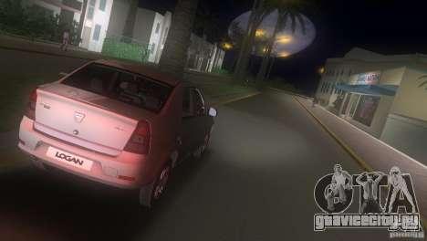 Dacia Logan для GTA Vice City вид сзади