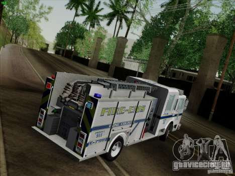 Pierce Pumpers. B.C.F.D. FIRE-EMS для GTA San Andreas вид изнутри