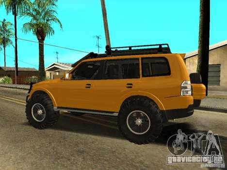 Mitsubishi Pajero OffRoad v2 для GTA San Andreas вид слева