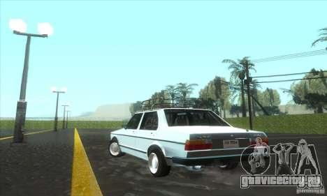 Volkswagen Jetta MK1 для GTA San Andreas вид сзади слева