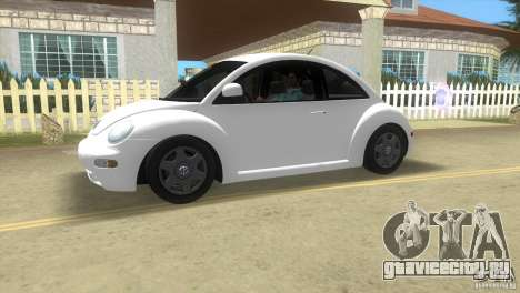 VW New Beetle для GTA Vice City вид слева