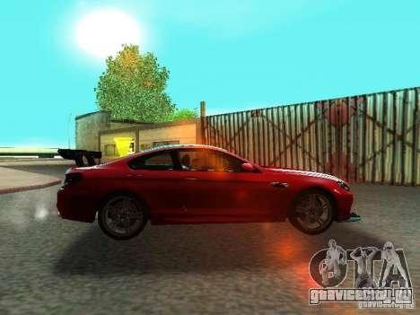BMW M6 2013 для GTA San Andreas вид изнутри