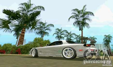 Mazda RX7 tuning для GTA Vice City вид слева