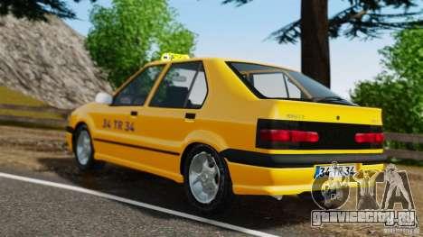 Renault 19 Такси для GTA 4 вид сзади слева