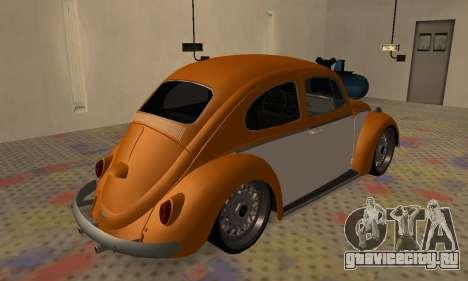 Volkswagen Beetle для GTA San Andreas вид сзади слева