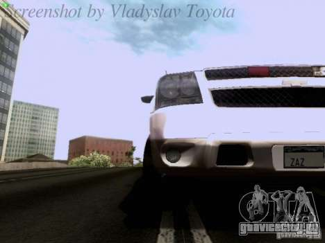 Chevrolet Avalanche 2007 для GTA San Andreas вид изнутри