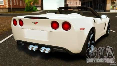 Chevrolet Corvette C6 2010 Convertible для GTA 4 вид сзади слева