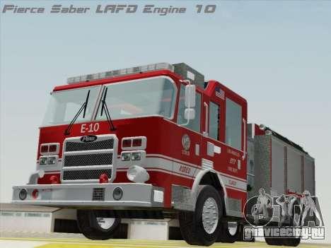 Pierce Saber LAFD Engine 10 для GTA San Andreas