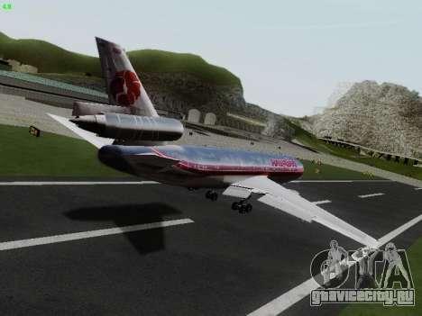McDonell Douglas DC-10-30 Hawaiian для GTA San Andreas вид сзади слева