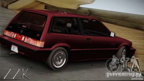 Honda Civic Si Coupe для GTA San Andreas вид слева