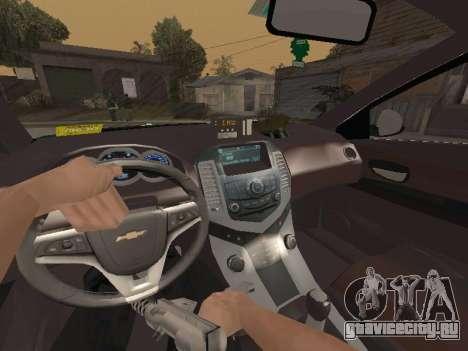 Chevrolet Cruze Carabineros Police для GTA San Andreas вид сбоку