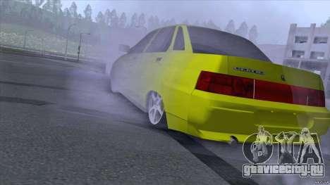 ВАЗ 2110 Жёлтый песок для GTA San Andreas вид слева