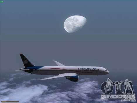 Boeing 787-8 Dreamliner AeroMexico для GTA San Andreas вид изнутри