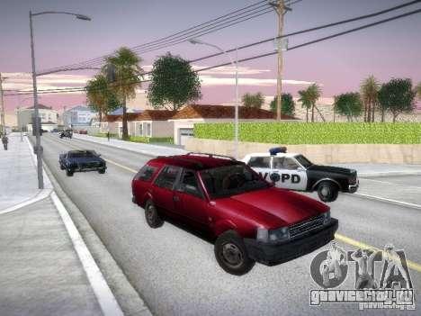 Nissan Bluebird Wagon для GTA San Andreas вид сзади