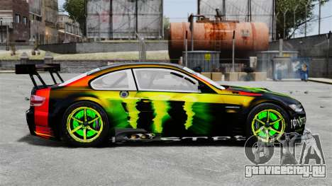 BMW M3 (E90) 2008 Monster Energy v1.2 для GTA 4 вид слева