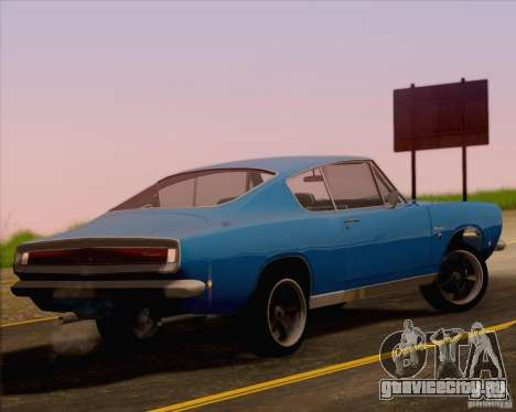 Plymouth Barracuda 1968 для GTA San Andreas вид слева