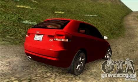Audi A3 Tunable для GTA San Andreas вид слева