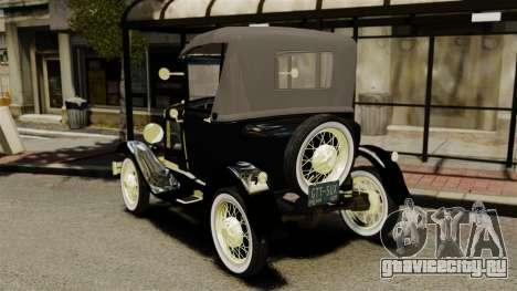 Ford Model T 1926 для GTA 4 вид сзади слева