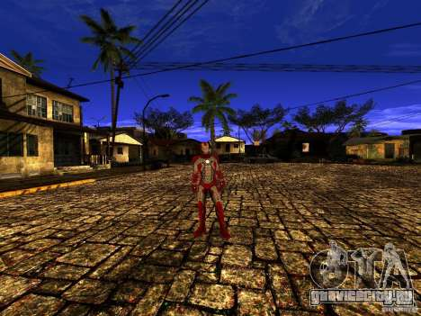 Iron Man 3 Mark V для GTA San Andreas третий скриншот