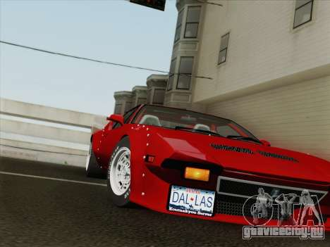 De Tomaso Pantera GT4 для GTA San Andreas вид сбоку