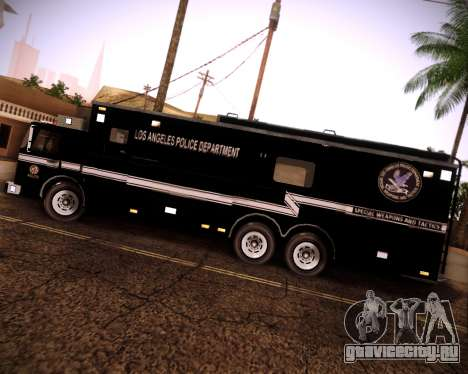 Pierce Contendor LAPD SWAT для GTA San Andreas вид справа