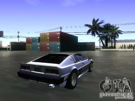 Lotus Esprit Turbo для GTA San Andreas вид слева