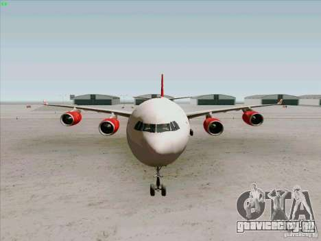 Airbus A-340-600 Virgin для GTA San Andreas вид изнутри