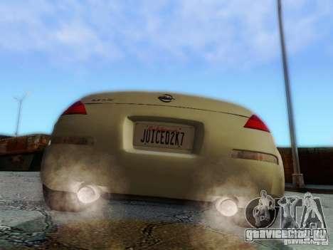 Nissan 350Z Cabrio для GTA San Andreas вид изнутри