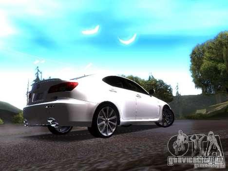 Lexus IS F для GTA San Andreas вид справа
