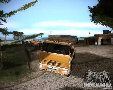 КамАЗ 65117 для GTA San Andreas вид сзади слева