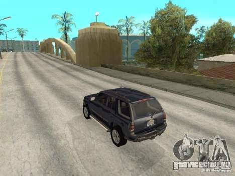 Chevrolet TrailBlazer 2003 для GTA San Andreas вид сзади слева