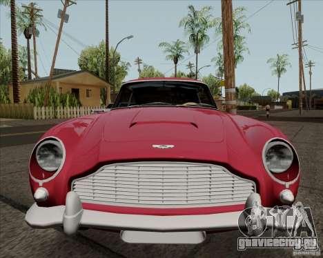 Aston Martin DB5 для GTA San Andreas вид сзади