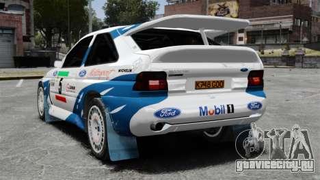 Ford Escort RS Cosworth для GTA 4 вид сзади слева