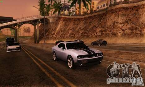 Dodge Challenger SRT-8 для GTA San Andreas вид сзади