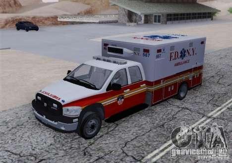 Dodge Ram Ambulance для GTA San Andreas вид сзади