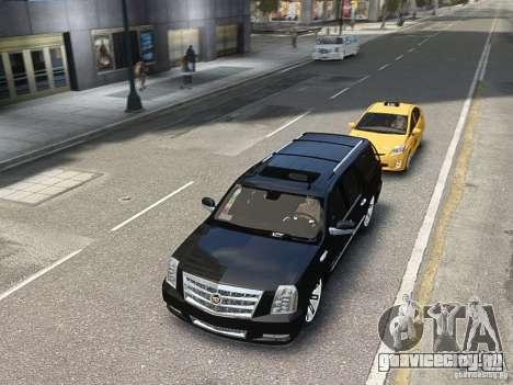 Cadillac Escalade ESV 2012 DUB для GTA 4 вид сзади