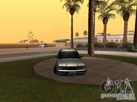 BMW E34 540i V8 для GTA San Andreas вид справа